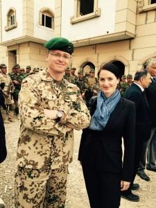 Julia Obermeier MdB und Oberstleutnant André Wüstner