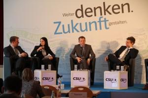 v.l.n.r. Dr. Reinhard Brandl MdB, Julia Obermeier MdB, PStS Thomas Silberhorn MdB, Markus Blume MdL