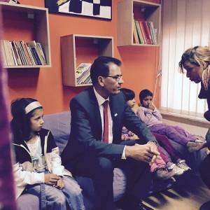Bundesentwicklungsminister Dr. Gerd Müller besucht Straßenkinder