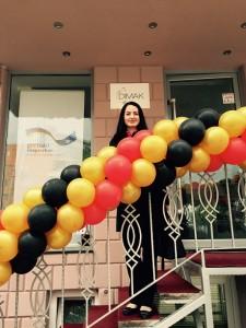 Julia Obermeier MdB bei der Eröffnung des Deutschen Informationspunkt für Migration, Ausbildung und Karriere