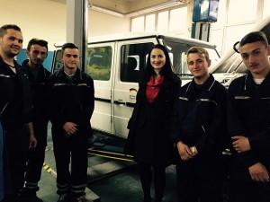 Julia Obermeier MdB besucht die Berufschule in Pristina