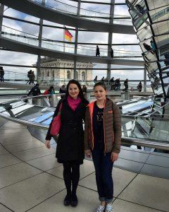 Girls´Day 2016 Lea zusammen mit Julia Obermeier MdB
